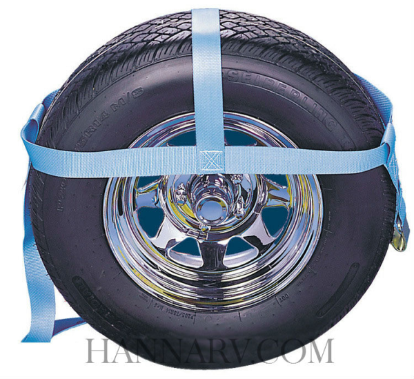 Kinedyne 910 Cargo Control Tire Net for 14 and 15 Inch Tires - 2 Inches Wide - 5,000 Lbs