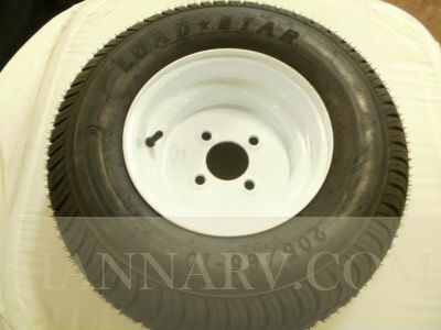 Load Star 20.5 X 8-10 C Class Tire And 4 Hole Wheel Assembly - Single - White Painted Finish