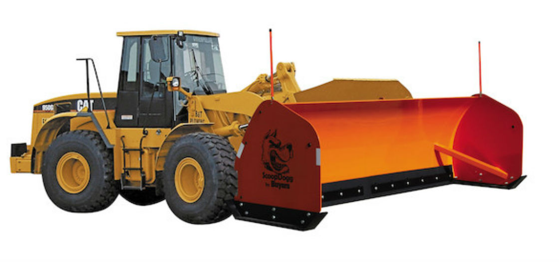 ScoopDogg Model 2601116 Loader Snow Pusher - 16 Foot Wide Pusher for 25,000+ lb. Front-End Loaders