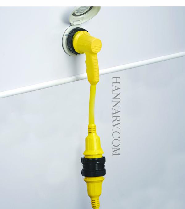 30 Amp Rv Plug >> Marinco 1rpcrv 30 Amp Right Angle Rv Adapter Hanna Trailer Supply