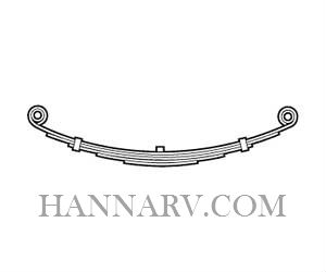 Martin Wheel DE125-330 30 Inch Long Double Eye 3 Leaf Spring - 1250 Lbs