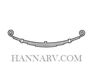 Martin Wheel DE200-325 25 Inch Long Double Eye 3 Leaf Spring - 2000 Lbs