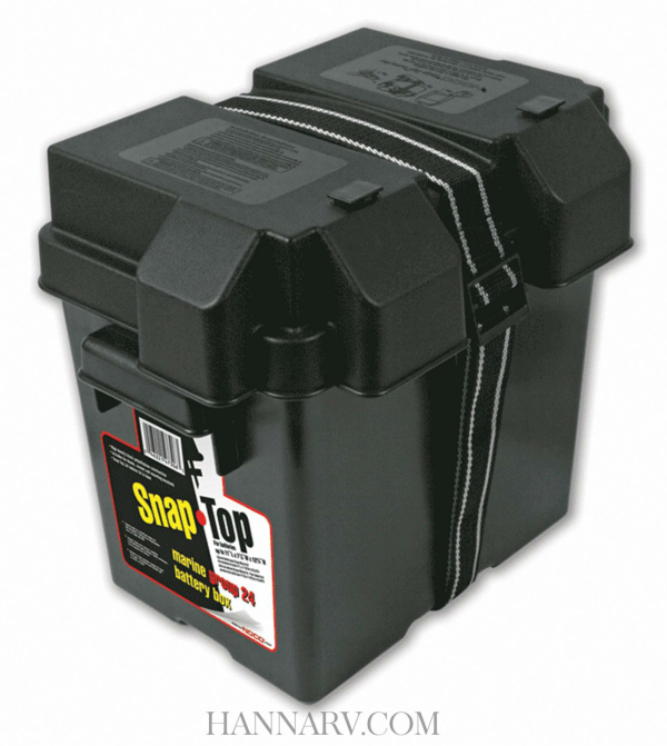 NOCO HM306BK Single 6 Volt Snap-Top Battery Box