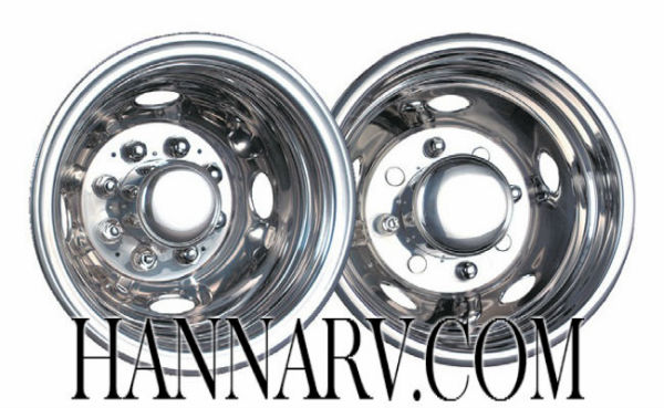Namsco 7168E0JC Stainless Steel Wheeliners For Dual Wheels - 16 Inches  - 8 Lug Wheels