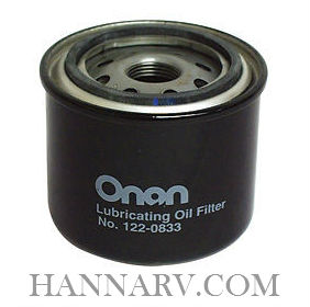 Onan 122-0833 Oil Filter - 7.5K Quiet Diesel