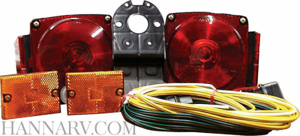 Optronics TL-29BK Trailer Tail Light Kit with 25 Foot Wire Harness on