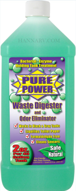 Organic Power Products 22002 Pure Power 32 Oz Concentrated Holding Tank Waste Digester And Odor Elim