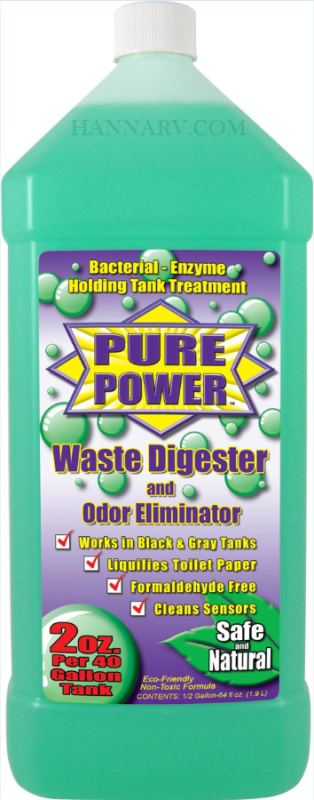Organic Power Products 22003 Pure Power One Half Gallon Concentrated Holding Tank Waste Digester And