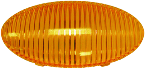 Peterson Manufacturing 383-25A Amber Replacement Lens For M382/M383 Oval Porch Utility Light
