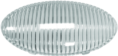 Peterson Manufacturing 383-25C Clear Replacement Lens For 383 / 382 Oval Porch Utility Light