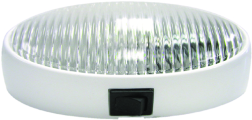 Peterson Manufacturing M382C Oval Porch Utility Light - Clear With Switch
