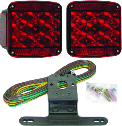 Peterson Manufacturing V941 Piranha Red LED Rear Trailer Light Kit