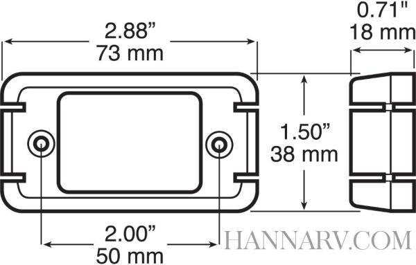 Peterson Manufacturing V153KA Piranha Amber LED Clearance Sidemarker Light Kit