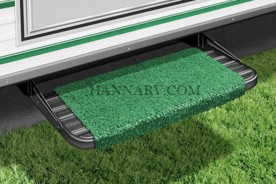 Prest-O-Fit 2-0040 Wraparound Green 18 Inch RV Step Rug