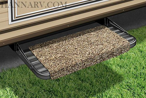 Prest-O-Fit 2-0041 Wraparound RV Step Rug - Brown