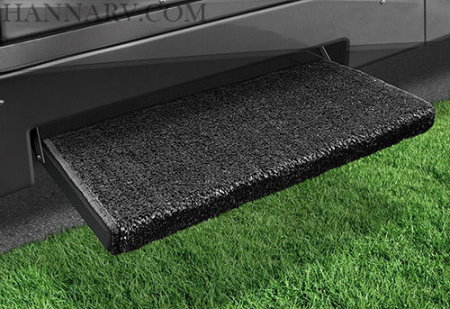 Prest-O-Fit 2-0050 Jumbo Wraparound Plus RV Step Rug - Black