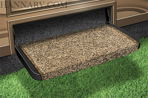 Prest-O-Fit 2-0071 Wraparound Plus RV Step Rug - Brown