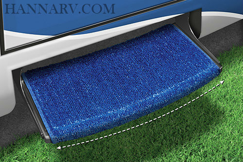 Prest-O-Fit 2-0204 Wraparound Radius RV Step Rug - Blue