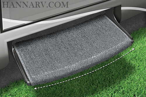 Prest-O-Fit 2-0206 Wraparound Radius RV Step Rug - Gray