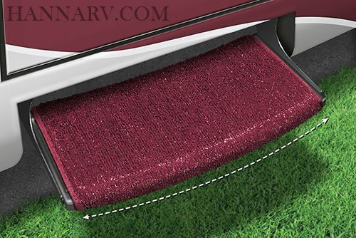 Prest-O-Fit 2-0207 Wraparound Radius RV Step Rug - Burgundy