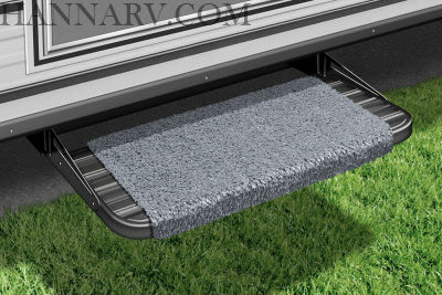 Prest-O-Fit 2-1043 RV Wraparound Step Rug Stone Gray