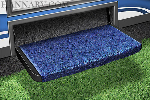 Prest-O-Fit 2-1071 Wraparound Plus RV Step Rug - Blue