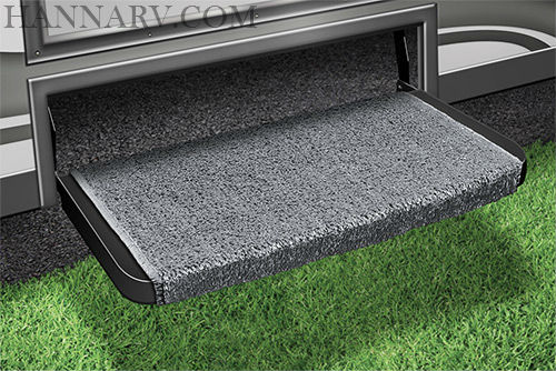 Prest-O-Fit 2-1073 Wraparound Plus RV Step Rug - Gray