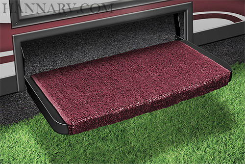 Prest-O-Fit 2-1074 Wraparound Plus RV Step Rug - Burgundy