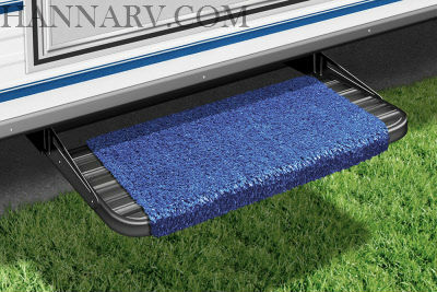 Presto-O-Fit 2-0042 RV Wraparound Step Rug Imperial Blue