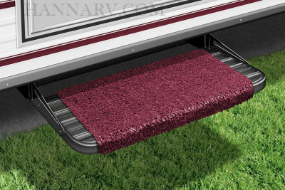 Presto-O-Fit 2-1044 RV Wraparound Step Rug 18 Inch Burgundy Wine