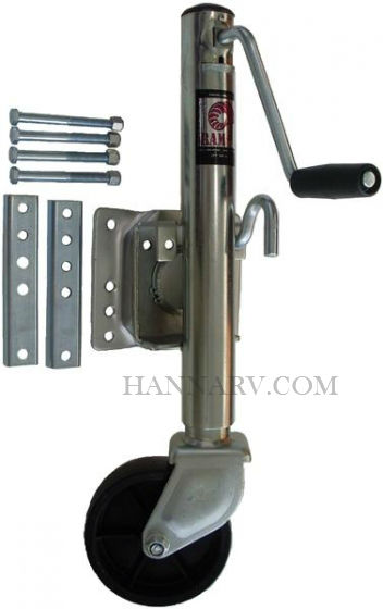 Ram MJ-1001B 1,000 lb. Capacity Bolt-on Heavy Duty Swivel Tongue Jack