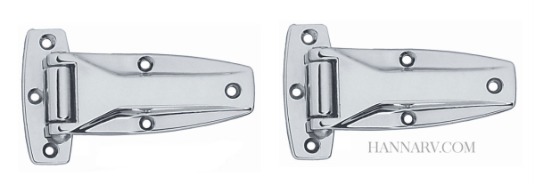 Redline 104 Chrome Plated Trailer Door Hinge   5/16 Inch Pin   3 1/4 Inches  Wide X 6 Inches Long   2 Pack