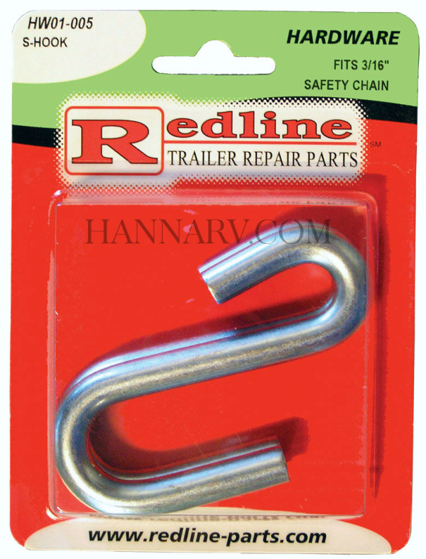 Redline HW01-005 S-Hook For 3/16 Safety Chain - 2 Pack