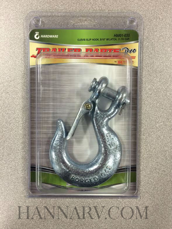 Redline HW01-035 5/16 Inch Clevis Slip Hook with Latch - 11,700 Lbs Cap