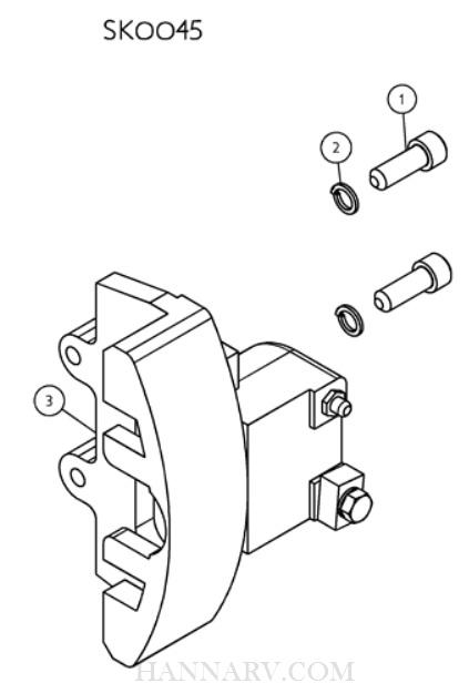 Shorelander Sk0045 Complete Left Side Caliper Assembly 9 75 With