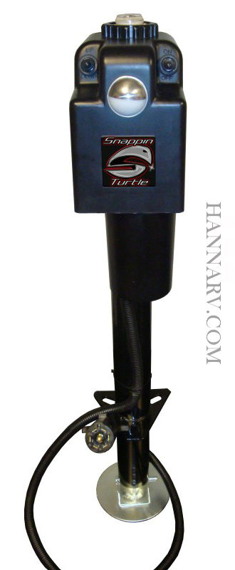 Snappin Turtle V4655 3500 Pound Power Tongue Jack with 7 Way RV Plug