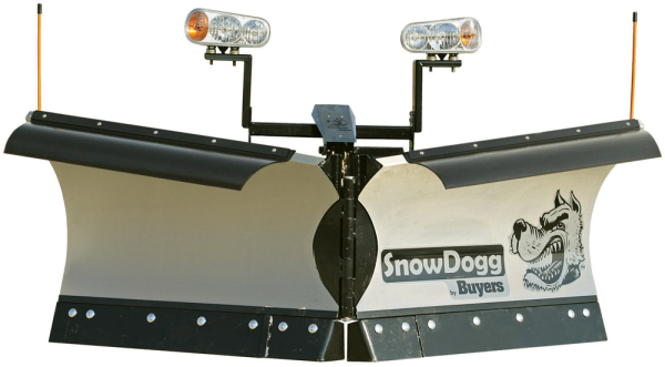 SnowDogg VMD75 Stainless Steel Snow Plow - Snowdogg VMD Series Plow For 1/2 Ton Plow Ready Trucks