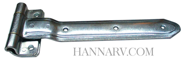 Strap Hinge 2212 Zinc Plated Steel - 12 Inches Long Over Gasket 270 Degree