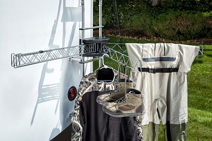 Stromberg Carlson CL-36 Ladder Mount RV Clothes Line Drying Rack