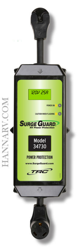 TRC 34730 30 Amp Portable Surge Guard with LCD Display