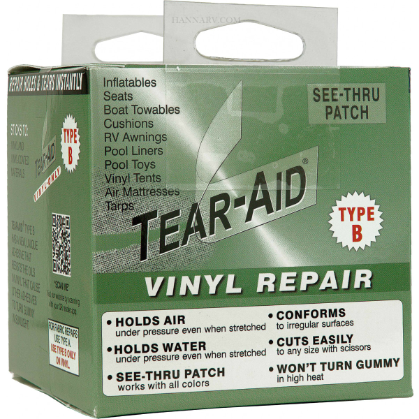 Tearepair Inc. D-ROLL-B-20 Tear-Aid Type B 3 Inch x 5 Foot Vinyl See Thru Patch Kit