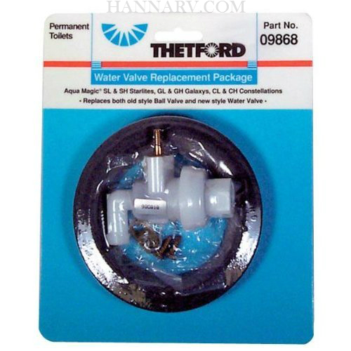 Thetford 09868 Aqua Magic Galaxy/Starlite Replacement Water Valve Kit