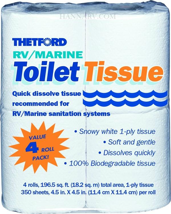 Thetford 20804 Value Pack 1 Ply Rv Toilet Tissue 4 Rolls