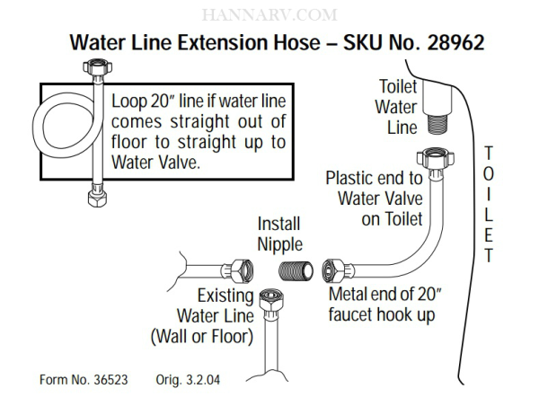 Thetford 28962 Aqua Magic V Water Line Extension Hose | MFG# 28962 ...