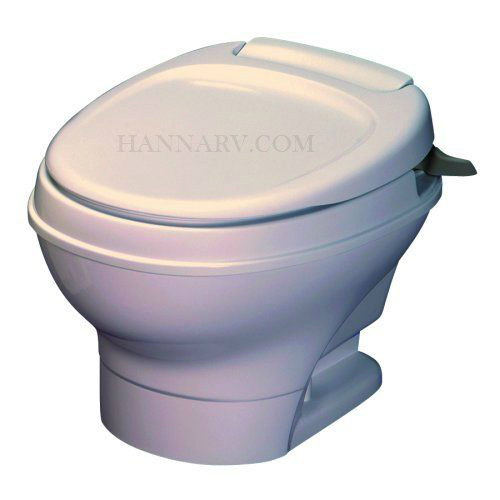 Thetford 31647 Aqua Magic V Parchment Low Hand Flush RV Toilet