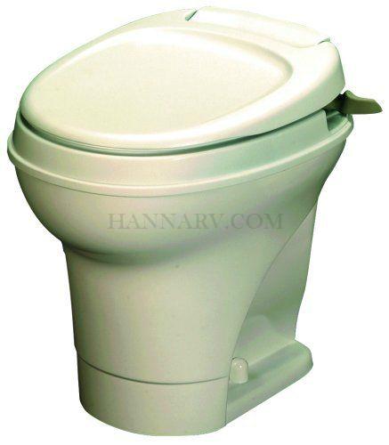 Thetford 31668 Aqua Magic V Parchment High Hand Flush RV Toilet ...