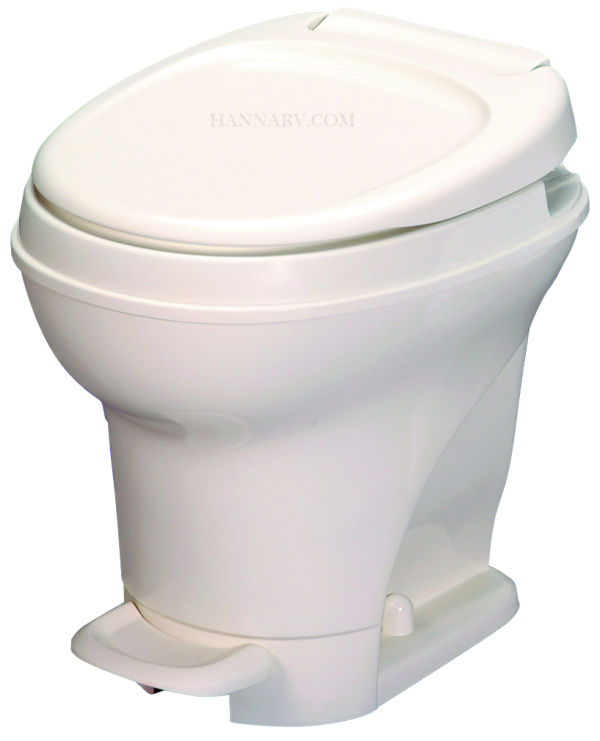 Thetford 31672 Aqua Magic V Parchment High Foot Flush RV Toilet
