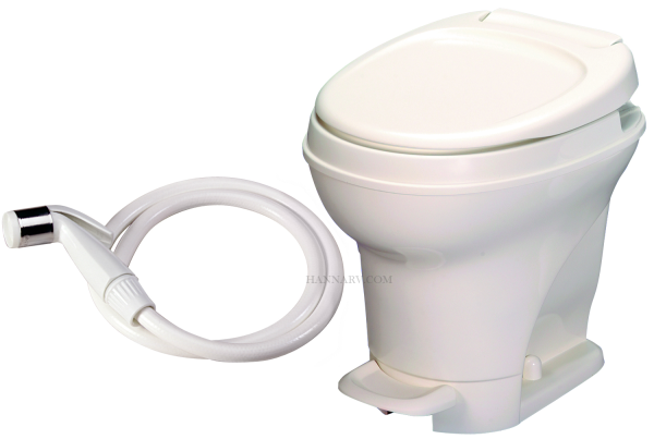 Thetford 31679 Aqua Magic V Toilet High Profile - Foot Flush With Water Sprayer