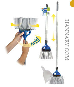 Thetford 36772 Stormate Collapsible Broom With Dust Pan