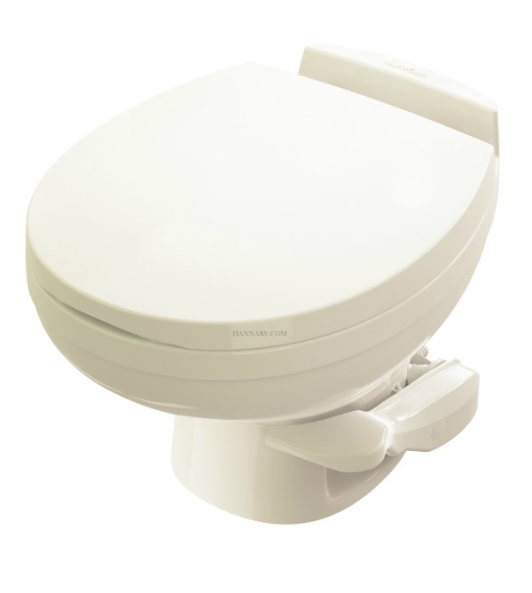 Thetford 42172 Aqua Magic Residence Low Profile RV Toilet - Bone Color